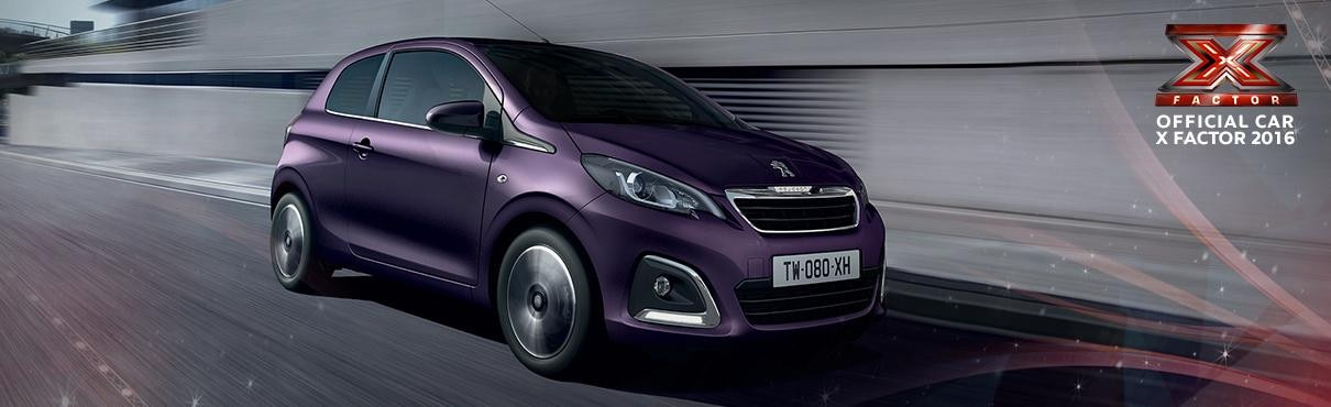 Peugeot 108 Official Car X Factor 2016