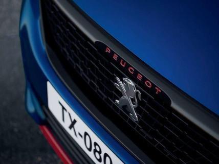 """ PEUGEOT 308 GTi by PEUGEOT SPORT - calandra, caratteri rossi, frontale """