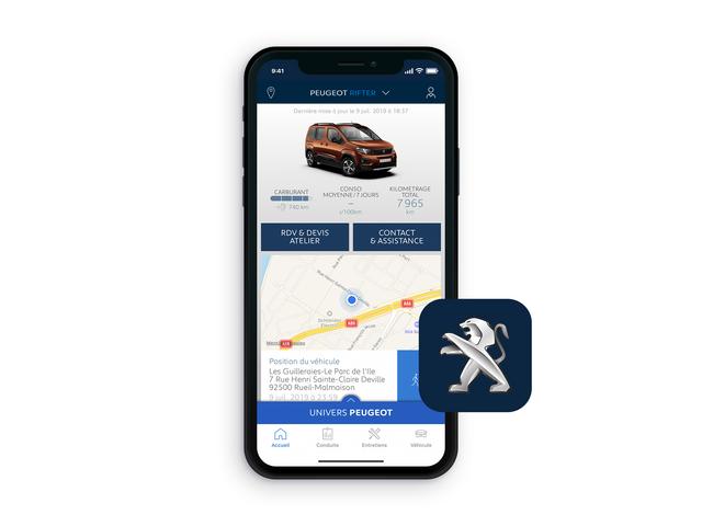 PEUGEOT Rifter – App MyPeugeot®